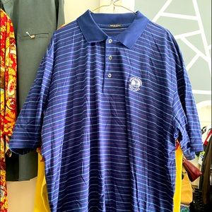 NWOT PEBBLE BEACH COLLECTION STIPED POLO SIZE XXL